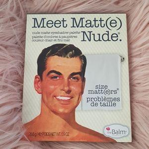 The Balm Cosmetics Meet Matt(e) Nude